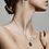 Thumbnail: Pilgrim Necklace : Libra Zodiac Sign : Gold Plated : Crystal