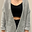 Thumbnail: Open Front Oversized Knit Cardigan