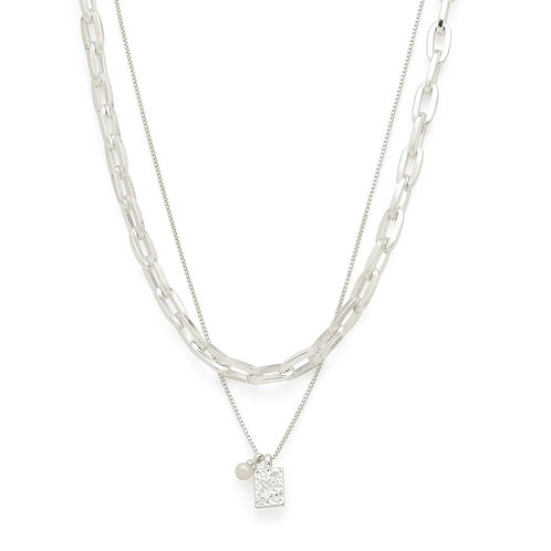 Necklace : Hana 2-in-1 : Silver Plated