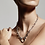 Thumbnail: Pilgrim Necklace : Affection : Silver Plated