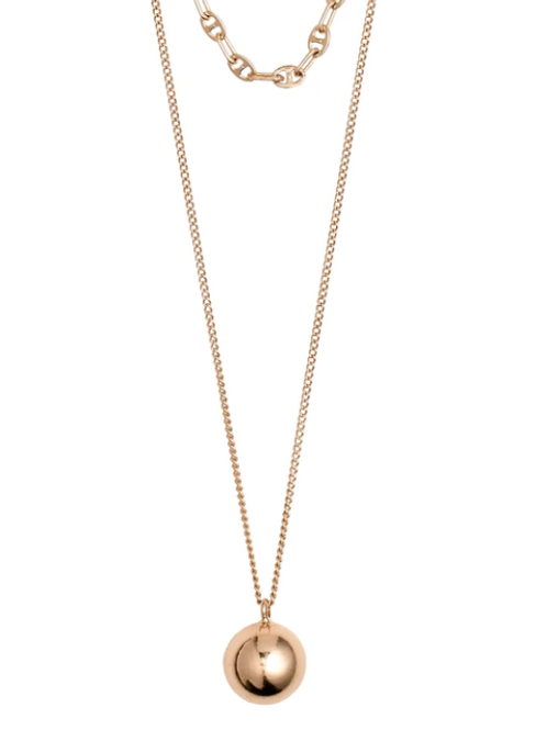 Necklace : Earth : Gold Plated : Rose