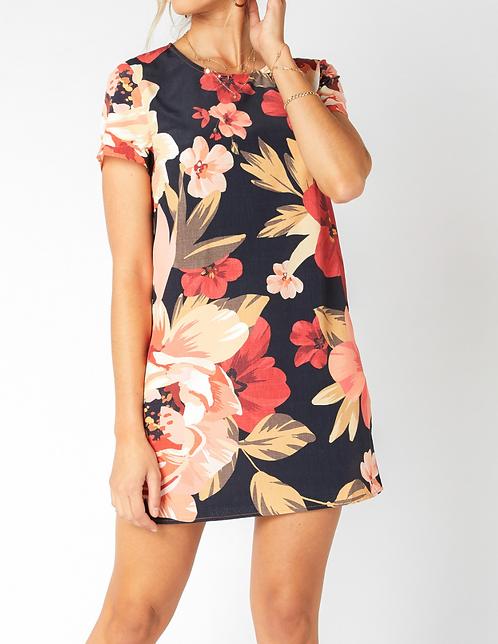Floral Short Tee Dress