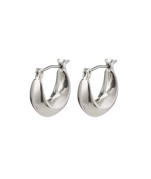 Pilgrim Earrings : Magda : Silver Plated