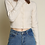 Thumbnail: Soft Pearl Button Knit Cardigan - Cream
