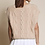 Thumbnail: Cable Knit Vest - Beige