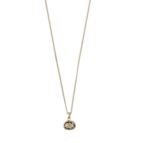 Necklace : Air : Gold Plated : Grey