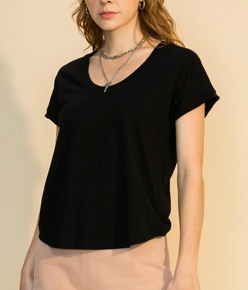 U-Neck T-shirt (2colors)