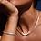 Thumbnail: Pilgrim Necklace : Chloe : Silver Plated : White