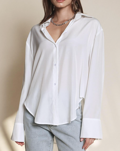 Button Down Shirt - White