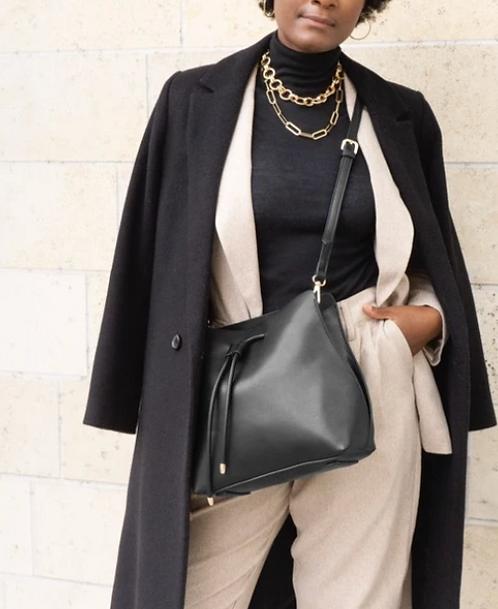 Drawstring Closure Shoulder Bag