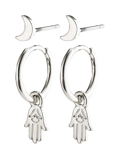 Pilgrim Earrings : Nyla : Silver Plated