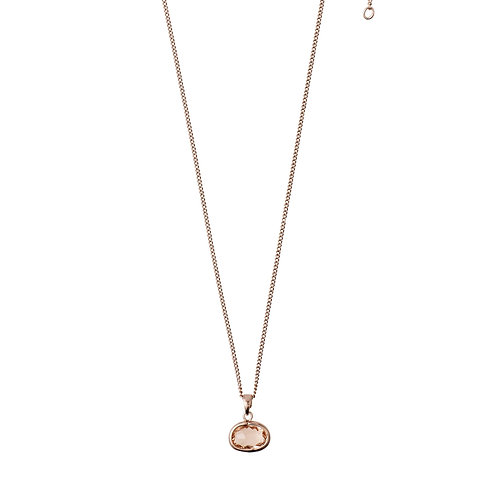 Necklace : Air : Rose Gold Plated : Brown