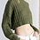 Thumbnail: Cable knit Cropped Sweater