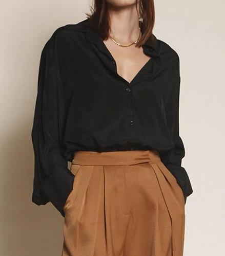 Button Down Shirt -Black