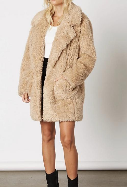 Short Pimp Faux Fur Coat