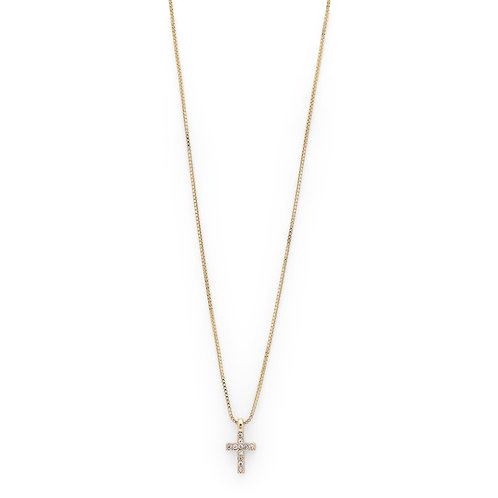 Necklace : Clara : Gold Plated : Crystal