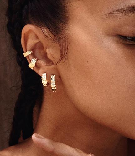 Pilgrim Earrings : Pauline : Gold Plated : Crystal