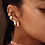 Thumbnail: Pilgrim Earrings : Pauline : Gold Plated : Crystal