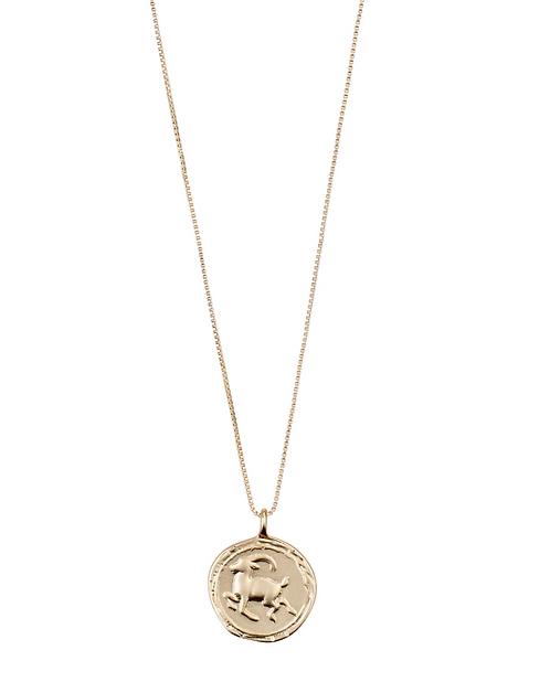 Pilgrim Necklace : Capricorn Zodiac Sign : Gold Plated : Crystal
