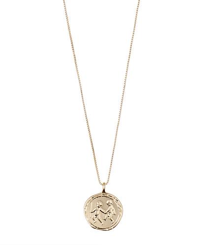 Pilgrim Necklace : Gemini Zodiac Sign : Gold Plated : Crystal