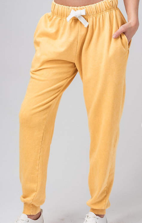 Washed French Terry Two-Tone Jogger