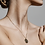 Thumbnail: Pilgrim Necklace : Virgo Zodiac Sign : Gold Plated : Crystal