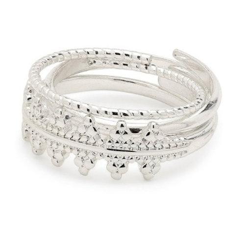 Ring : Kiku : Silver Plated
