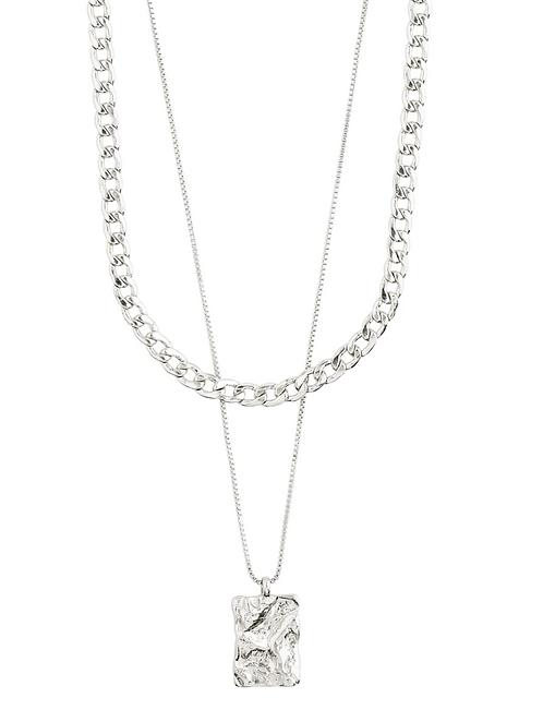 Pilgrim Necklace : Bathilda : Silver Plated