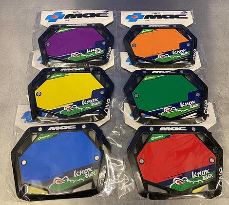 KNOX BMX MAC COMPONENTS RACE PLATE
