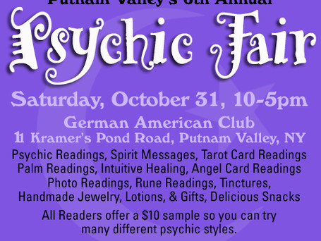 Putnam Valley 6th Annual Psychic Fair