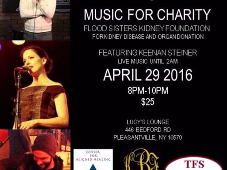 Lucy's Music For Charity – Fundraiser For The Flood Sisters Kidney Foundation April 29, 2016