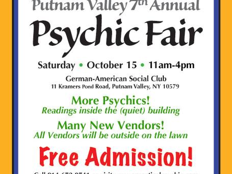Putnam Valley 7th Annual Psychic Fair - October 15, 2016