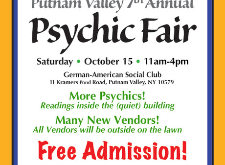 Putnam Valley 7th Annual Psychic Fair