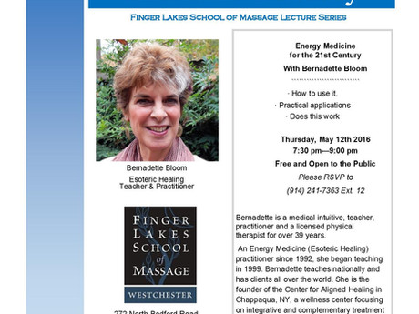 Energy Medicine For The 21st Century Lecture With Bernadette Bloom