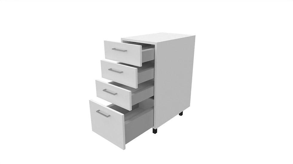 BLANC BAS 40 à 60 cm - 4 tiroirs