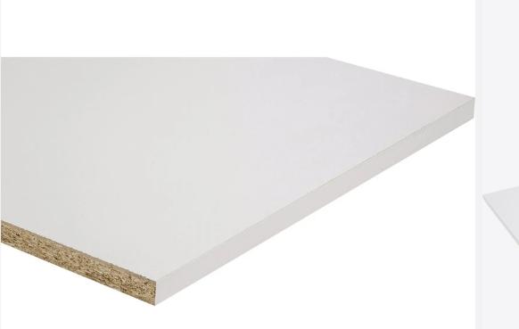Mélaminé BLANC 19 mm - 0.2 m² < Surface