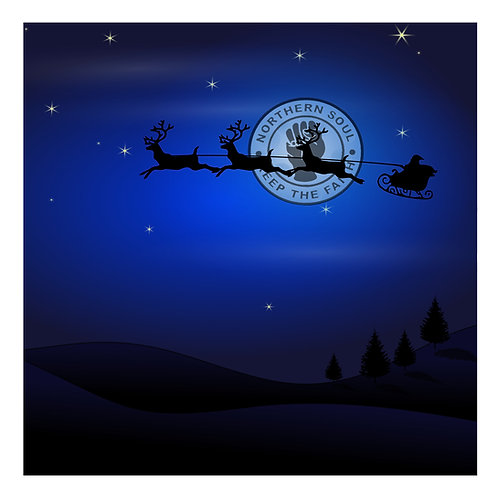 Santa's Sleigh KTF Greeting Card. CL524.
