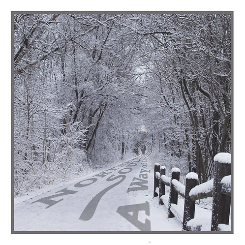 Northern Soul Winter Lane Greeting Card. CL525.