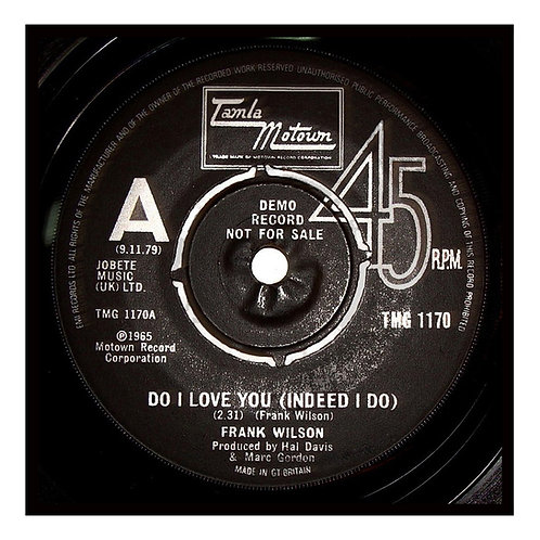 Do I Love You Tamla Motown Label Greeting Card. CL902.