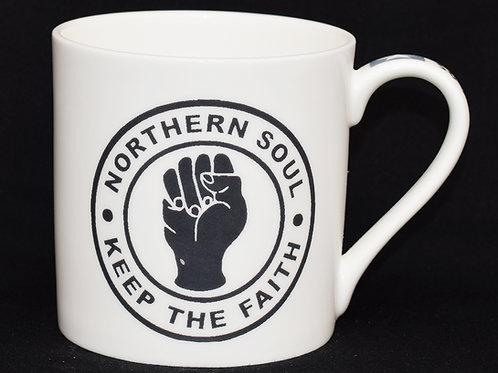 White KTF Fine China Mug