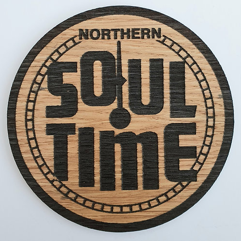 Soul Time Wooden Coaster