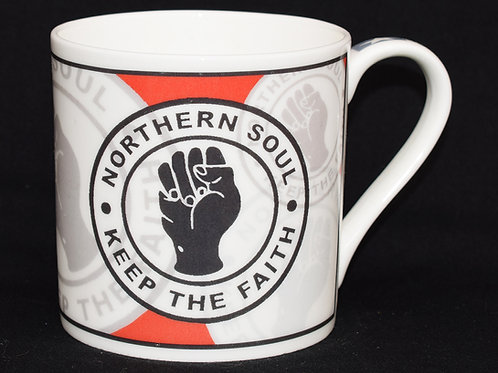 Red Fist Wrap Fine China Mug
