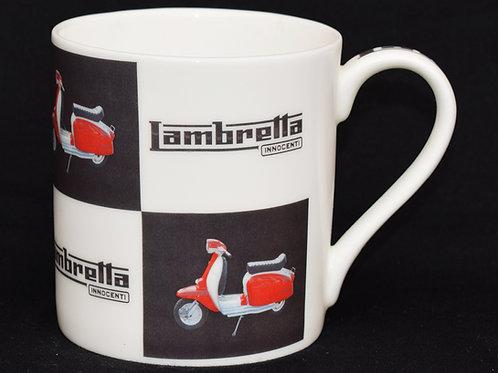Red Lambretta Scooter Fine China Mug.