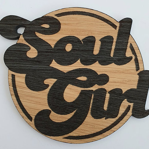 Soul Girl Wooden Coaster