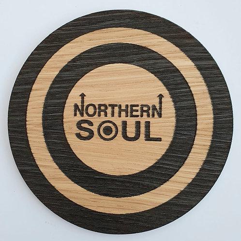 Northern Soul Mod Target Wooden Coaster