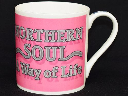 Pink Way of Life Fine China Mug