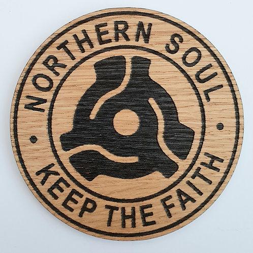 Record Centre Wooden Coaster