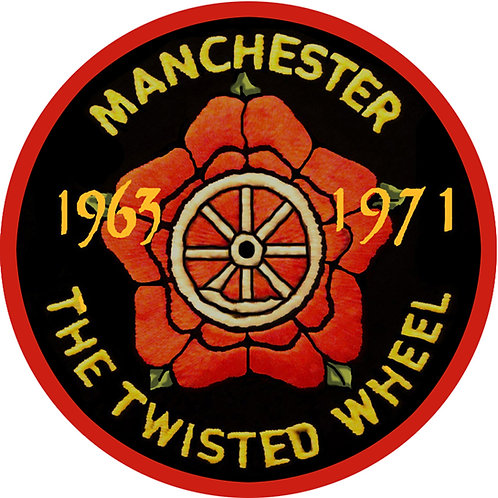Twisted Wheel Fridge Magnet.