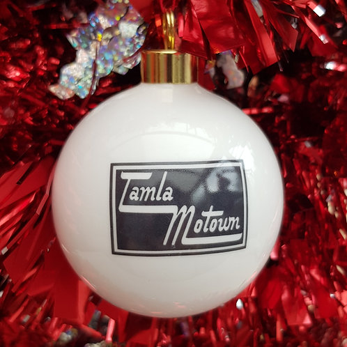 Christmas China Bauble Tamla Motown Label.