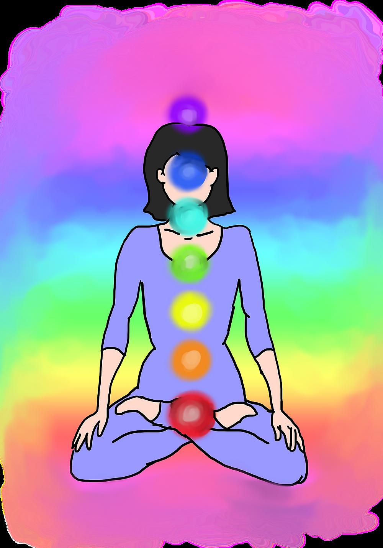 """Chakra est un ancien mot sanskrit qui se traduit littéralement par """"roue"""". Cette énergie tournoyante (appelée aussi prana) a sept centres dans le corps partant de la base de la colonne vertébrale jusqu'au sommet de la tête.   Quand l'un de nos sept chakras est perturbé, c'est tout notre équilibre physique et psychique qui se trouve boulversé.  L'énergie doit pouvoir passer librement dans les chakras, sans excès, sans manque ni stagnation. Un mal-être, une émotion aiguë, des problèmes anciens non résolus, une mauvaise hygiène de vie ou le stress peuvent les dérégler : les chakras se ferment et empêchent l'énergie de circuler. Pour les hindous, ce déséquilibre favorise les maladies, d'où l'importance d'harmoniser ses chakras régulièrement pour prévenir plutôt que guérir."""